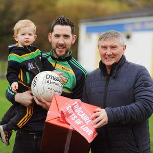 Donegal All-Ireland winner Martin McHugh, along with his son Mark and grandson Noah, aged 1, helped to launch Trócaire's Christmas 'Gifts of Love' for 2018. To find out more visit www.trocaire.org/gifts