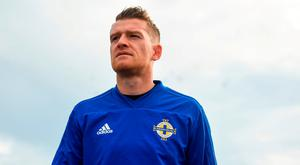 Steven Davis arrives prior to a Northern Ireland Training Session at Gannon Park in Malahide, Dublin. Photo by David Fitzgerald/Sportsfile