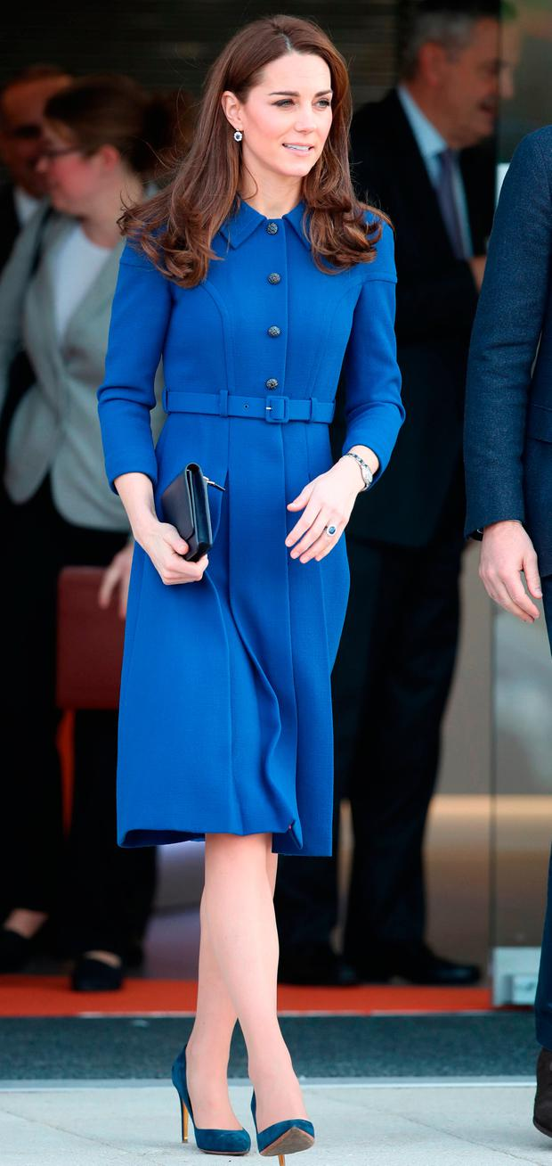 The Duchess of Cambridge leave the McLaren Composites Technology Centre in Rotherham