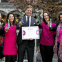 Maarten Schuurman, HEINEKEN Ireland Managing Director, and the HEINEKEN Ireland CSR and Corporate Affairs Team collect Business in the Community's Business Working Responsibly mark at Dublin's Mansion House.