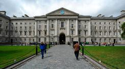 Trinity College Dublin is ranked 120th in a global graduate employability table, the only Irish university in the world's top 150. Photo: AFP/Getty Images