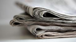 A selection of newspapers.