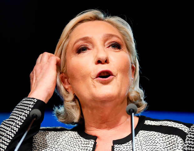 On the right, the alliances being forged by Marine Le Pen (pictured), of France's National Rally, and Matteo Salvini's Italian Lega, alongside the growth of populist parties such as the Sweden Democrats, Fidesz in Hungary, and Law and Justice in Poland, will represent a significant challenge to the liberal democratic values that underpin the European Union. Photo: AP