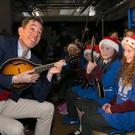 Broadcaster Ryan Tubridy officially launched the SVP appeal as pupils from St Margaret's National School, St Margaret's, Dublin and St Josephs' Primary School, Tipperary Town  were singing Christmas carols. Picture Colm Mahady / Fennells - Copyright© Fennell Photography 2018