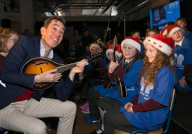 Broadcaster Ryan Tubridy officially launched the SVP appeal as pupils from StMargaret's National School, St Margaret's, Dublin and St Josephs'Primary School, Tipperary Town were singing Christmas carols. Picture Colm Mahady / Fennells - Copyright© Fennell Photography 2018