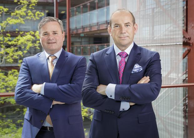 Donal O'Shaughnessy, chairman of Cignal and Colin Cunningham, Chief Executive of Cignal