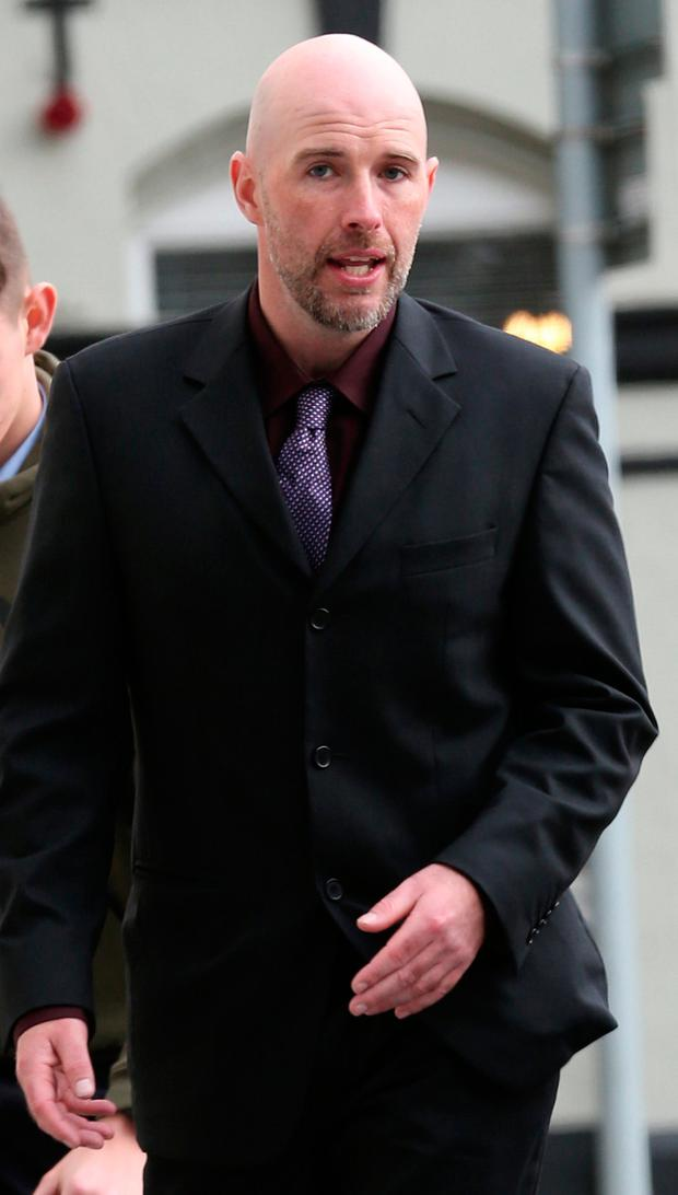 Alan Curtis (34), of Stannaway Road, Kimmage, arrives at the Dublin Circuit Criminal Court where he was jailed for two years. PIC Collins Courts.