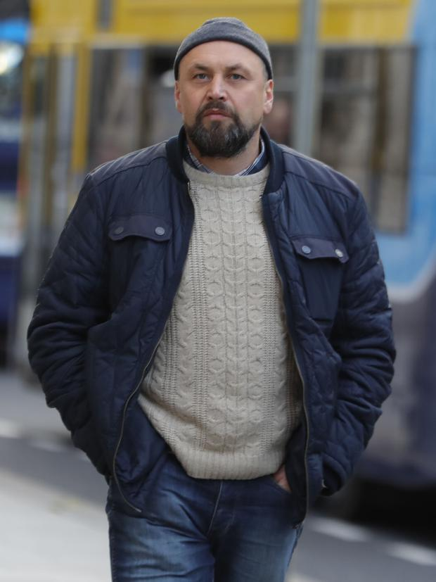 Vladimirs Korolovs pictured outside the Four Courts following a Circuit Civil Court action Pic: Collins Courts