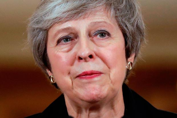 British Prime Minister Theresa May holds a press conference at 10 Downing Street, London, to discuss her Brexit plans. Photo: Matt Dunham/PA Wire