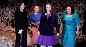 Left to right: Meg Healy, Aisling O'Mara, Danielle Galligan and Camille Lucy Ross. Photo Jeda de Brí