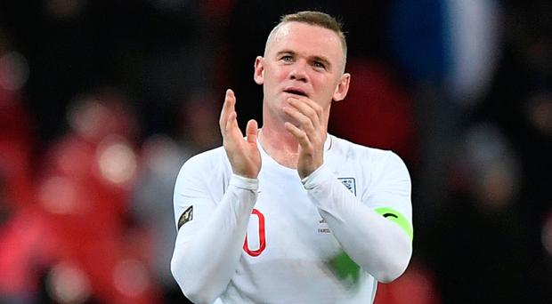 Soccer Football - International Friendly - England v United States - Wembley Stadium, London, Britain - November 15, 2018 England's Wayne Rooney applauds the fans at the end of the match REUTERS/Toby Melville