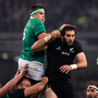 19 November 2016; CJ Stander of Ireland and Samuel Whitelock of New Zealand contest a lineout during the Autumn International match between Ireland and New Zealand at the Aviva Stadium in Dublin. Photo by Brendan Moran/Sportsfile