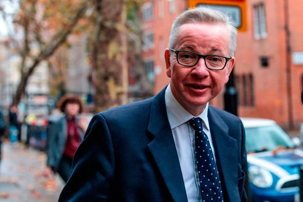 British Environment Secretary Michael Gove arrives at the Department for Environment, Food and Rural Affairs in Westminster. Photo: Jack Taylor/Getty Images