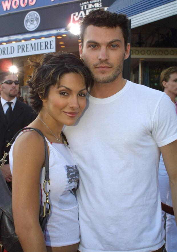 Brian Austin Green and ex Vanessa Marcil in 2001