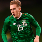 All at sea: Ronan Curtis. Photo: Sportsfile