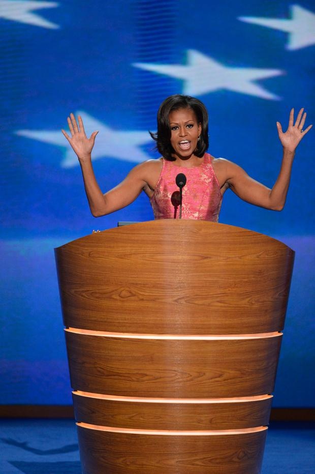 Michelle Obama speaking in 2012
