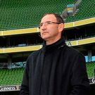 Time to deliver: Martin O'Neill and FAI chief executive John Delaney have plenty to think about after a dismal run of results and mounting dissatisfaction among supporters. Photo: Sportsfile