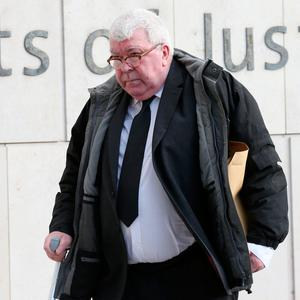 Accused: Desmond Duffy (70) arrives at the Central Criminal Court during his trial this week. Photo: Collins Courts