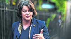 Blood-red lines: Arlene Foster's DUP has a fantasy of having its cake and eating it. Photo: Reuters