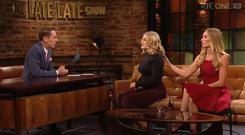 Evie Baxter with her mum Victoria Smurfit on The Late Late Show