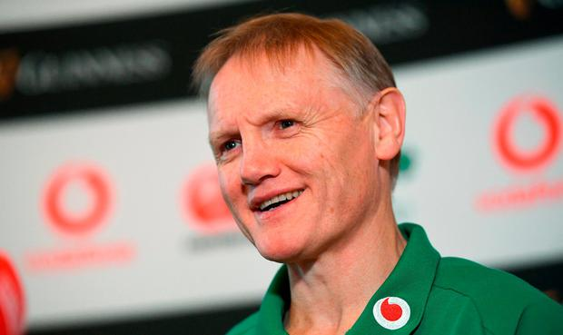 Head coach Joe Schmidt during an Ireland Rugby press conference at Carton House in Maynooth, Co. Kildare. Photo by Ramsey Cardy/Sportsfile