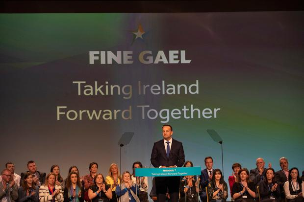 Taoiseach Leo Varadkar speaking at the 79th Fine Gael Ard Fheis in Citywest today. Picture by Fergal Phillips.
