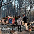 US President Donald Trump views damage from wildfires in Paradise, California on November 17, 2018. (Photo by SAUL LOEB / AFP)SAUL LOEB/AFP/Getty Images