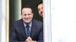 Leo Varadkar with Minister for Housing Eoghan Murphy as they officially open Phase One of the Dolphin House project in Dublinsenator. Photo: RollingNews.ie