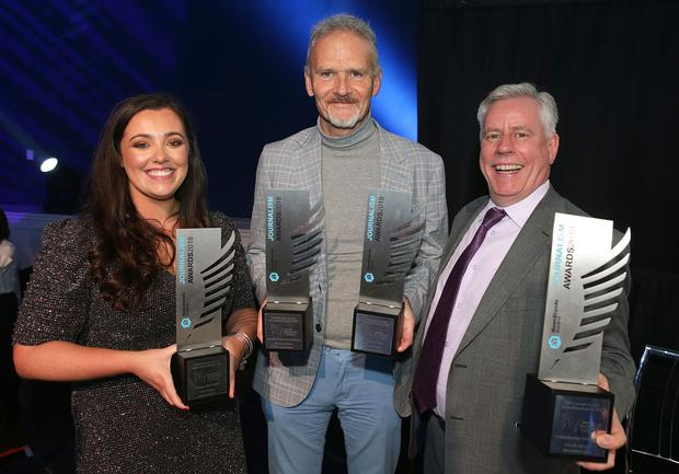 Amy Molloy, Vincent Hogan and Charlie Weston