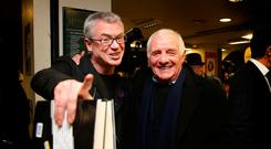'On The Seventh Day was launched by Eamon Dunphy, which was entirely fitting because I think you can divide Irish sports writing into Before Dunphy and After Dunphy'. He is pictured at the launch with Joe Brolly. Photo: David Conachy