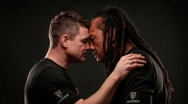 'But here they were, 13 years later, drinking Guinness and rubbing noses in a remarkable show of affection in Dublin' Photo: INPHO/Dan Sheridan