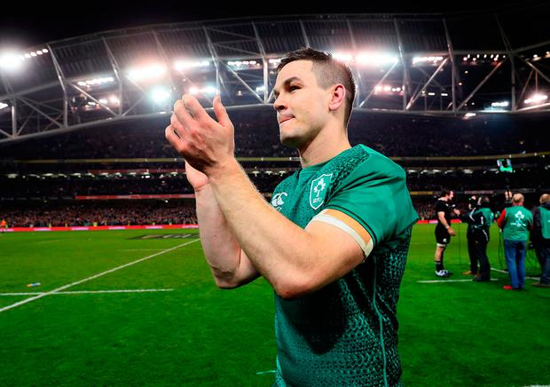 Ireland's Jonathan Sexton after victory over New Zealand. Photo: Brian Lawless/PA Wire