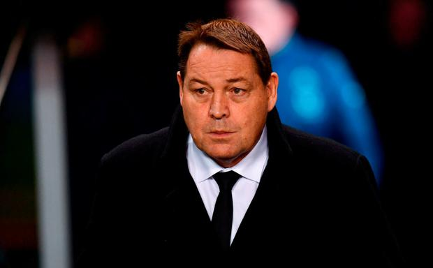 New Zealand head coach Steve Hansen arrives at the stadium prior to the Guinness Series International match between Ireland and New Zealand at the Aviva Stadium in Dublin last November. Photo by Ramsey Cardy/Sportsfile