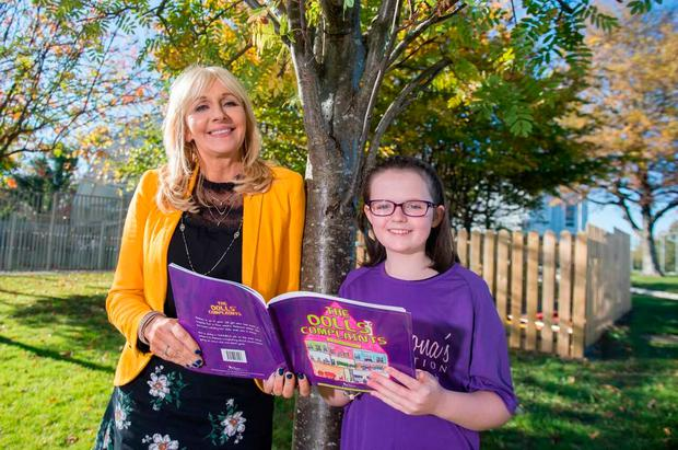 Keeva Delaney with Miriam O'Callaghan, who is patron of Cliona's Foundation