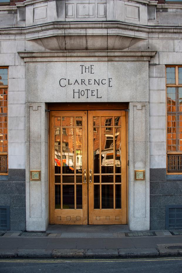 A woman (20s) was rushed to hospital after she fell from a window at The Clarence Hotel in Dublin's Temple Bar