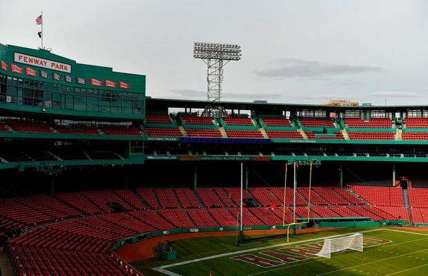 A general view of Fenway Park before the Aer Lingus Fenway Hurling Classic 2018 semi-final match between Clare and Cork at Fenway Park in Boston, MA, USA. Photo by Piaras Ó Mídheach/Sportsfile
