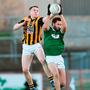 Gaoth Dobhair's Odhrán Mac Niallais battles Stephen Morris of Crossmaglen Rangers for possession during yesterday's Ulster semi-final. Photo by Oliver McVeigh/Sportsfile