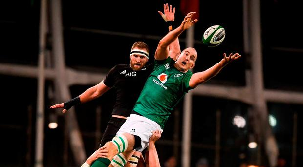 Setting the Toner: The performance of Devin Toner in the line-out was one of several areas on which the foundation for Ireland's victory was laid. Photo: David Fitzgerald/Sportsfile