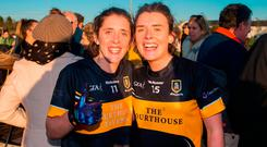 Ciara and Doireann O'Sullivan of Mourneabbey following the match. Photo by Eóin Noonan/Sportsfile