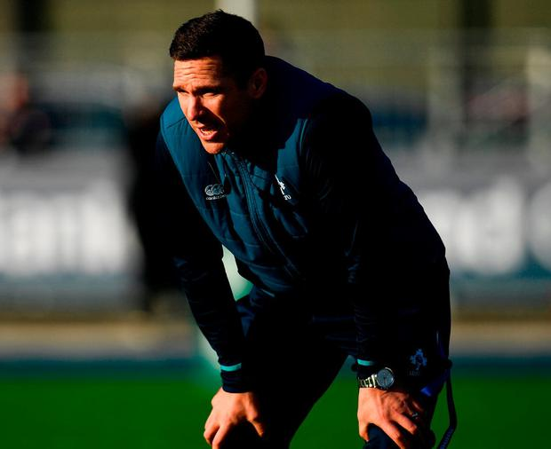 Ireland head coach Adam Griggs. Photo: Ramsey Cardy/Sportsfile