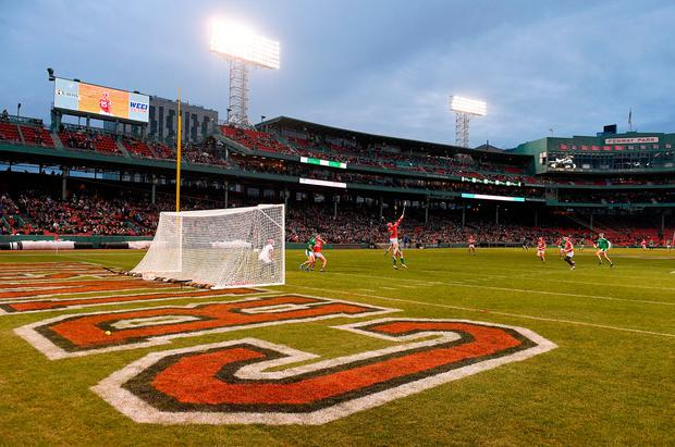 A general view of action during the Fenway Hurling Classic 2018 Final match between Cork and Limerick at Fenway Park in Boston, MA, USA. Photo by Piaras Ó Mídheach/Sportsfile
