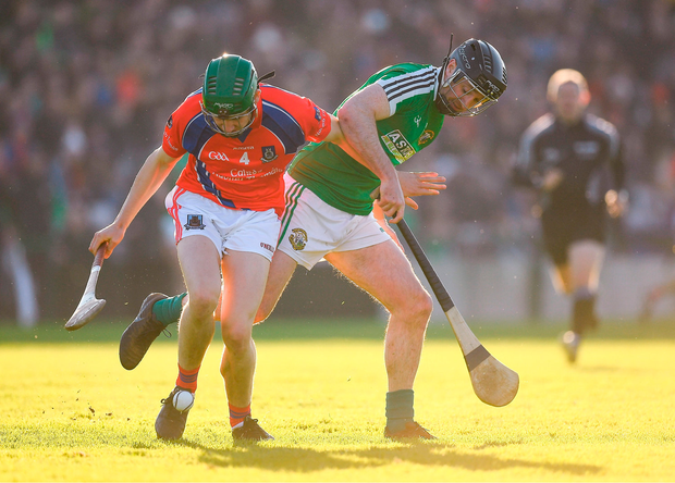 David Sherry of St Thomas' in action against Aonghus Callanan of Liam Mellows. Photo by Harry Murphy/Sportsfile