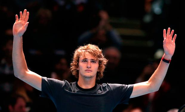 Zverev broke serve once in the opening set and three times in the second to pull off a shock victory. Photo credit: John Walton/PA Wire
