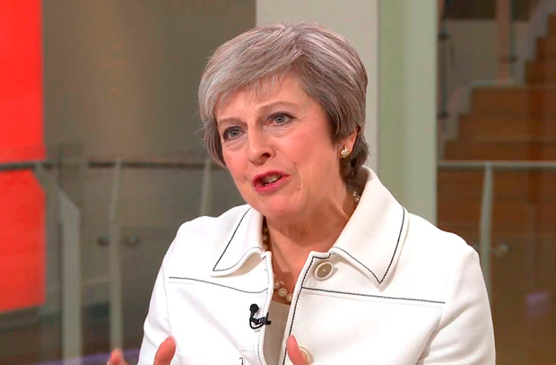 British Prime Minister Theresa May took a swipe at rebels. Picture: Sky News/PA