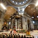 Pope Francis celebrates mass in St. Peter's Basilica. AP Photo/Andrew Medichini