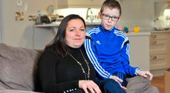 Clodagh O'Donovan with her son Eoghan. Picture: Daragh Mc Sweeney/Provision