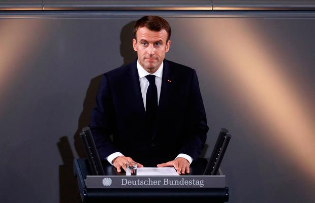 Security call: French President Emmanuel Macron in Berlin. Photo: Getty Image