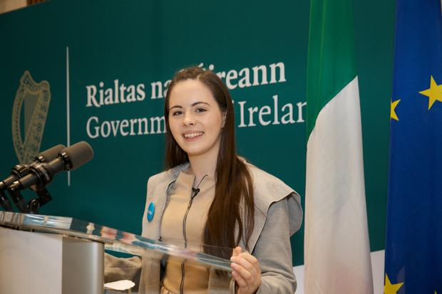 Aoife Murphy (15) from Co Westmeath believes the voting age should be lower from 18 to 16. Photo: Unicef Ireland