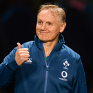 17 November 2018; Ireland head coach Joe Schmidt prior to the Guinness Series International match between Ireland and New Zealand at the Aviva Stadium in Dublin. Photo by Ramsey Cardy/Sportsfile