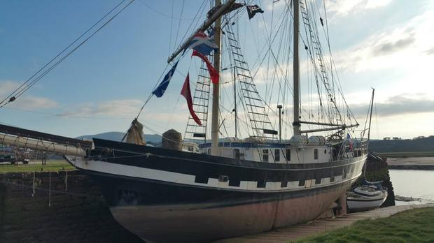 The 'La Malouine' tall ship was docked at Carlingford in Co Louth when the incident occurred.